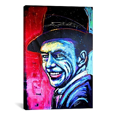 iCanvas Rock Demarco Sinatra Art 002 Painting Print on Wrapped Canvas; 18'' H x 12'' W x 0.75'' D