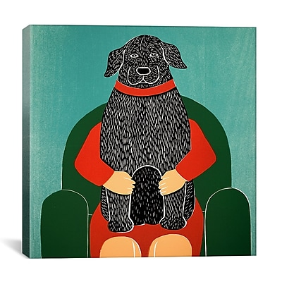 iCanvas Lap Dog by Stephen Huneck Painting Print on Wrapped Canvas; 18'' H x 18'' W x 0.75'' D