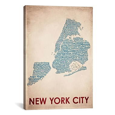 iCanvas American Flat New York City Graphic Art on Wrapped Canvas; 40'' H x 26'' W x 0.75'' D