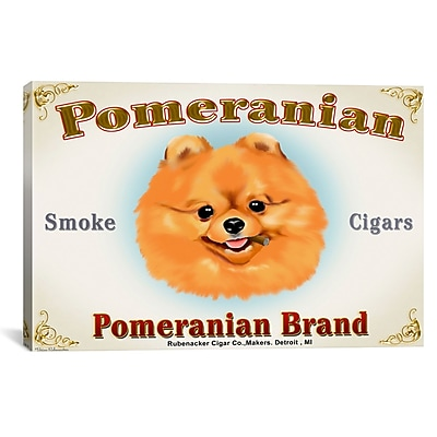 iCanvas Brian Rubenacker Pom Cigar Graphic Art on Wrapped Canvas; 12'' H x 18'' W x 0.75'' D