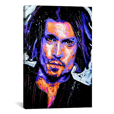 iCanvas Depp Art 001 by Rock Demarco Painting Print on Wrapped Canvas; 61'' H x 41'' W x 1.5'' D