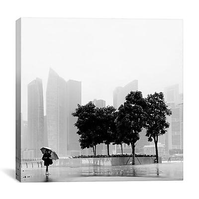 iCanvas Nina Papiorek Singapore Umbrella Photographic Print on Wrapped Canvas