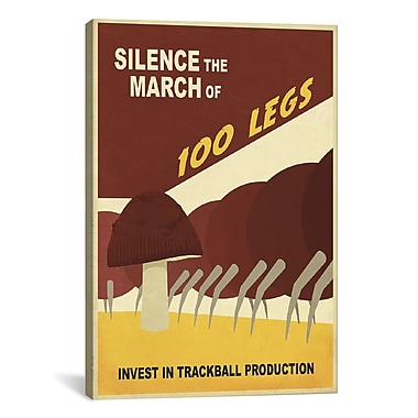 iCanvas Steve Thomas Silence The March Graphic Art on Wrapped Canvas; 41'' H x 27'' W x 1.5'' D