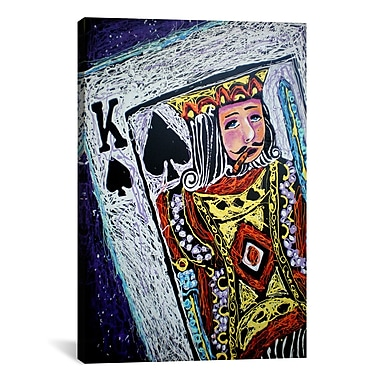 iCanvas King Spades 001 by Rock Demarco Painting Print on Wrapped Canvas; 40'' H x 26'' W x 1.5'' D