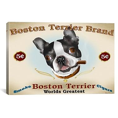 iCanvas Brian Rubenacker Boston Cigar Graphic Art on Wrapped Canvas; 41'' H x 61'' W x 1.5'' D