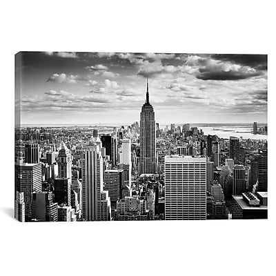 iCanvas New York City Downtown Canvas Wall Art by Nina Papiorek Photographic Print on Wrapped Canvas