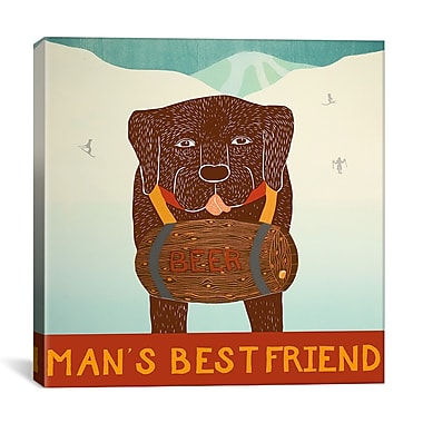 iCanvas Man's Best Friend Choc by Stephen Huneck Graphic Art on Wrapped Canvas