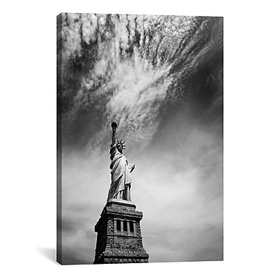 iCanvas New York City Miss Liberty by Nina Papiorek Photographic Print on Wrapped Canvas