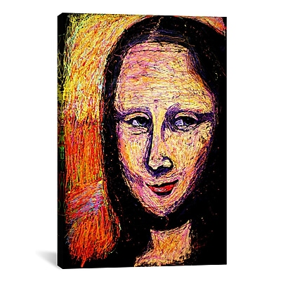 iCanvas Mona 002 by Rock Demarco Painting Print on Wrapped Canvas; 26'' H x 18'' W x 0.75'' D