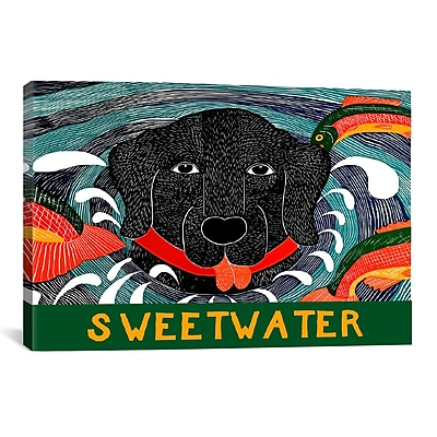 iCanvas Fish are Jumping Sweet Water by Stephen Huneck Graphic Art on Wrapped Canvas
