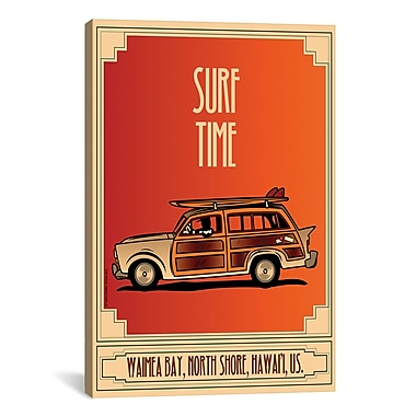 iCanvas American Flat Surf Time Graphic Art on Wrapped Canvas; 61'' H x 41'' W x 1.5'' D