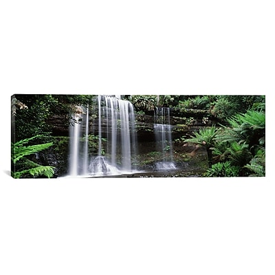 iCanvas Waterfall in a Forest Photographic Print on Wrapped Canvas; 12'' H x 36'' W x 1.5'' D