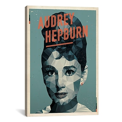 iCanvas American Flat Audrey Hepburn Graphic Art on Wrapped Canvas; 26'' H x 18'' W x 0.75'' D