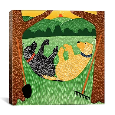 iCanvas Farming is Hard Work by Stephen Huneck Painting Print on Wrapped Canvas
