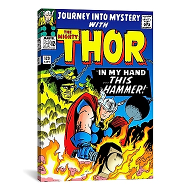 iCanvas Marvel Comic Book Thor Issue Cover #120 Graphic Art on Wrapped Canvas