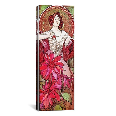iCanvas Alphonse Mucha Ruby, 1900 Graphic Art on Wrapped Canvas; 12'' H x 36'' W x 0.75'' D