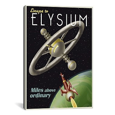 iCanvas Elysium by Steve Thomas Graphic Art on Wrapped Canvas; 26'' H x 18'' W x 0.75'' D