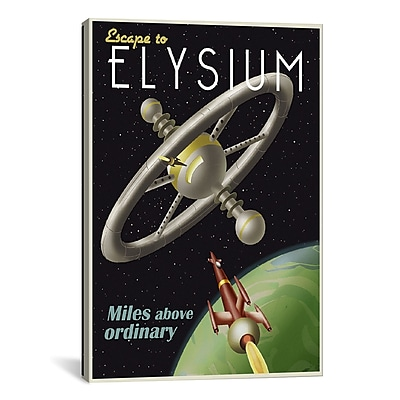 iCanvas Elysium by Steve Thomas Graphic Art on Wrapped Canvas; 41'' H x 27'' W x 1.5'' D