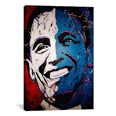 iCanvas Obama Painting 001 Canvas Wall Art by Rock Demarco; 40'' H x 26'' W x 0.75'' D