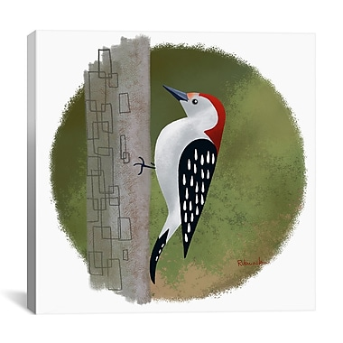 iCanvas Woodpecker 12 by Brian Rubenacker Graphic Art on Wrapped Canvas; 26'' H x 26'' W x 0.75'' D