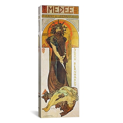 iCanvas Medee 1898 by Alphonse Mucha Graphic Art on Wrapped Canvas; 48'' H x 16'' W x 0.75'' D