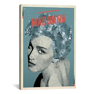 iCanvas American Flat Madonna Graphic Art on Wrapped Canvas; 40'' H x 26'' W x 0.75'' D