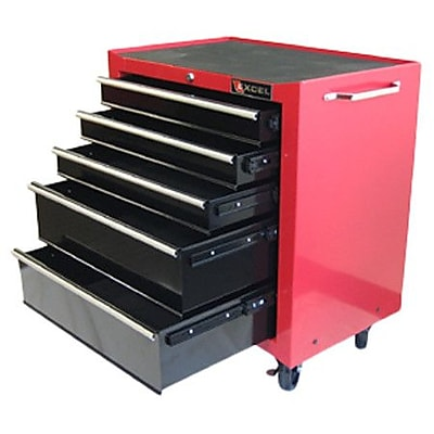 Excel 26.8''W 5-Drawer Tool Chest; Red
