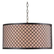 "Kenroy Home 20"" Metal Hawthorn 3 Light Drum Pendant"