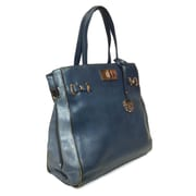 """Michael Michelle 14"""" x 18"""" x 4 1/2"""" """"McCardell"""" Medium Structured Tote Bag, Blue"""