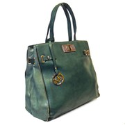 """Michael Michelle 14"""" x 18"""" x 4 1/2"""" """"McCardell"""" Medium Structured Tote Bag, Green"""
