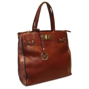 """Michael Michelle 14"""" x 18"""" x 4 1/2"""" """"McCardell"""" Medium Structured Tote Bag, Wine"""