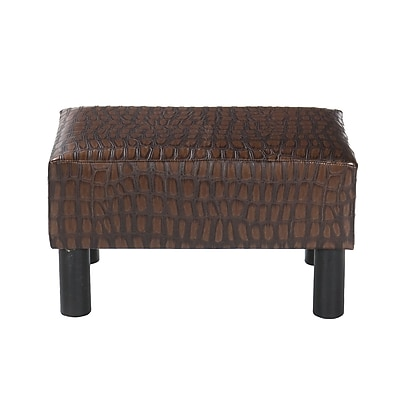 """""SEI 9.5"""""""" Bonded Foot Stool, Alligator Print (BC5980R)"""""" 1059368"