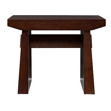 SEI Capistrano Wood/Veneer End Table, Espresso, Each (CK0922)