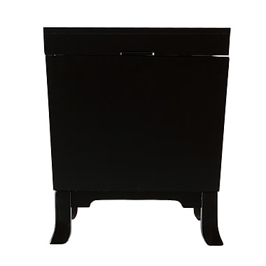 SEI Hayden Wood/Veneer End Table, Black, Each (CK3225)