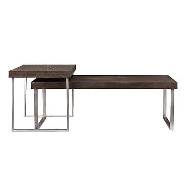SEI Nolan Wood/Veneer Sets Table, Oak, Each (CK4040)