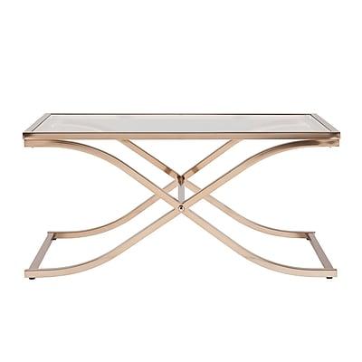 SEI Vogue Glass Cocktail Table, Gold, Each (CK6940)