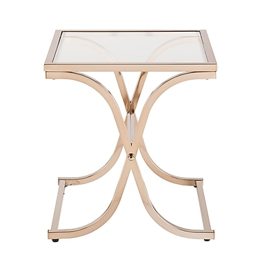 SEI Vogue Glass End Table, Gold, Each (CK6942)