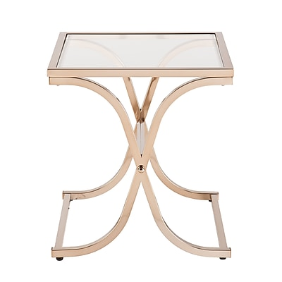 SEI Vogue Glass End Table, Gold, Each (CK6942)