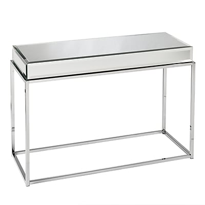 SEI Dana Metal Console Table, Chrome, Each (CK9273)
