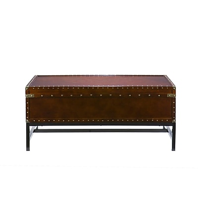 SEI Voyager Wood/Veneer Cocktail Table, Espresso, Each (CK9820)