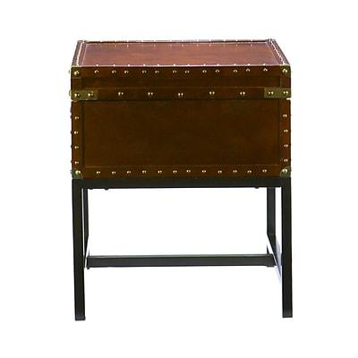 SEI Voyager Wood/Veneer End Table, Espresso, Each (CK9822)
