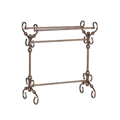 SEI Lourdes Metal Blanket Rack, Antique Bronze