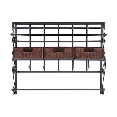 SEI Wall-Mount Craft Storage Rack With Baskets