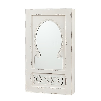 SEI Gilmore Shabby Chic Wall-Mount Jewelry Mirror