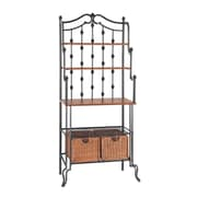 "SEI Saint Pierre 67 1/4"" Steel Bakers Rack, Black"