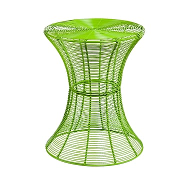 SEI Indoor/Outdoor Metal End Table, Green, Each (OC7602)