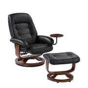 "SEI 40"" x 28 1/2"" Bonded Leather Recliner and Ottoman Set"