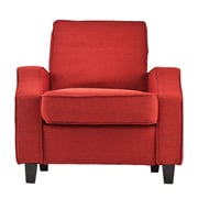 SEI Parkdale Polyester Arm Chair, Cherry Red