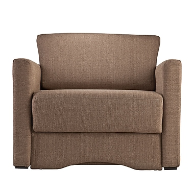 SEI Tyndall Polyester Sleeper Chair with Storage, Nutmeg (UP9403)