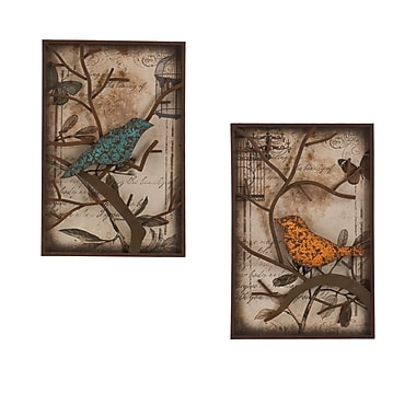 SEI Bird Wall Panel Set, 2-Piece/Set